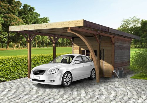 Solid Solid Carport S7754