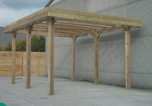 Solid Solid Carport S7763
