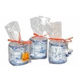 Stroopwafels in Delftsblauw blik Delfts Blauw