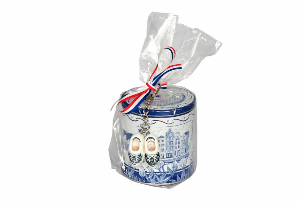 Stroopwafels in Delftsblauw blik I love Delfts Blauw