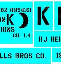 Stencils & Stickers Stencil nr. 08