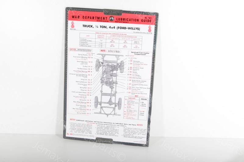 Willys MB Lubrication Guide