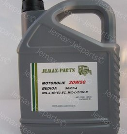 Olie en Vetten Motorolie 20W50 5L