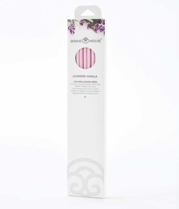 Lavender Vanilla - coloured perfume reeds