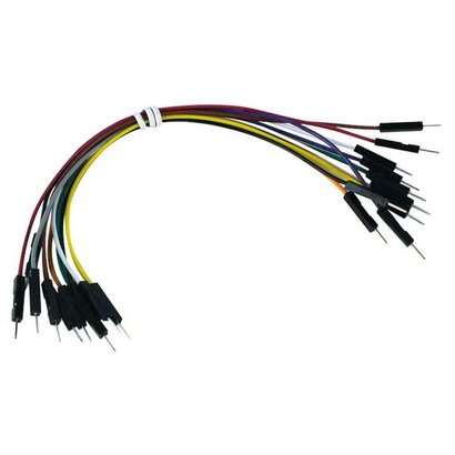 Velleman JUMPER WIRES - one pin MALE TO MALE - 15 cm ( 10 pcs )