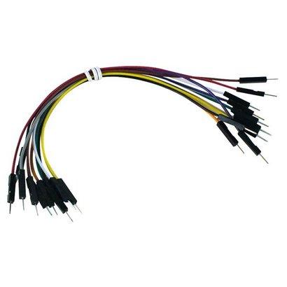 Velleman Set draadbruggen - 1 pin M/M - 15cm - 10stuks
