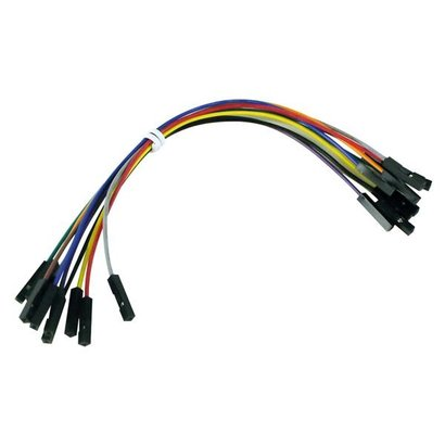 UMPER WIRES - one pin FEMALE TO FEMALE -  15 cm ( 10pcs )