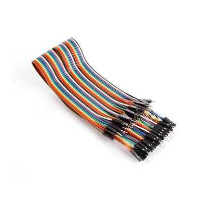 Velleman 40 PINS 30 cm MALE TO MALE JUMPER WIRE (FLAT CABLE)