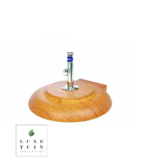 TUUCI aluma-crete round parasolvoet Natural