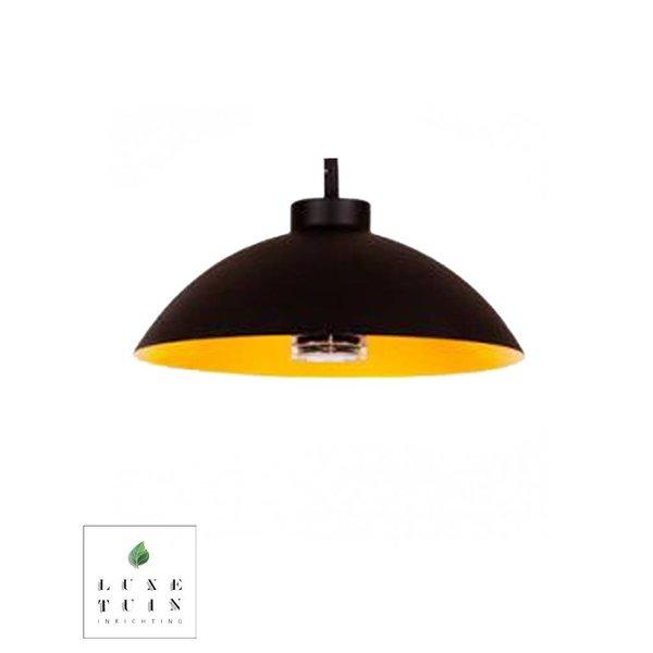 Heatsail Dome pendelend zwart |  incl. ophangsysteem