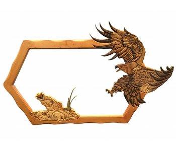 Houten spiegel hand-made