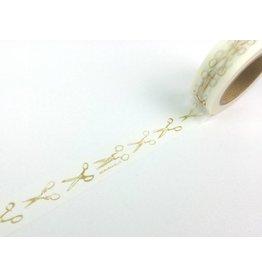 Maste Washi Masking Tape Goldene Scheren