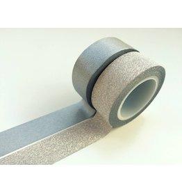 Vivi Gade Washi Masking Tape Set Glitzer Silber