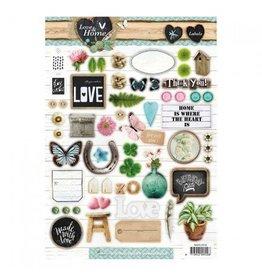 Studiolight A4 Bogen Stanzteile Love & Home 510