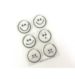 Clear Stamp Set   Smileys  6 tlg.