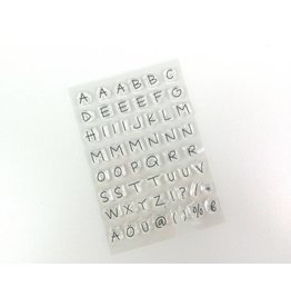 Clear Stamp Set   Alphabet  55 tlg.