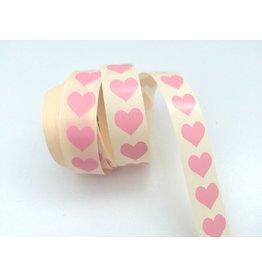 10 Aufkleber  Herz  Rosa