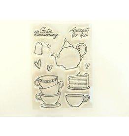 Clear Stamp Set   Teatime  10tlg.