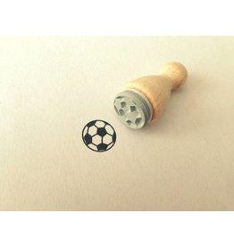 Mini Holzstempel Fussball