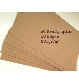 10x Kraftpapierbogen DIN A4  280g/m