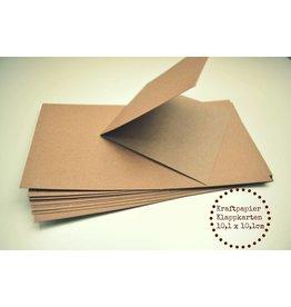 10x Kraftpapier Klappkarten 10,1 x 10,1cm