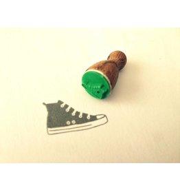 Mini Holzstempel Turnschuh