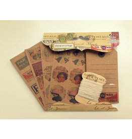 Airmail Kraftpapier Set  Tags+Stickers+Twine