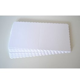10x Klappkarten quadratisch Weiss 12,5x12,5cm