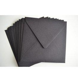 10x Papierumschläge 14x14cm 120gr/m² Schwarz