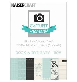 Kaisercraft Rock-A-Bye Baby Boy Journaling Cards 3x4