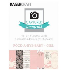 Kaisercraft Rock-A-Bye Baby Girl Journaling Cards 3x4