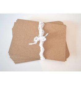 10x Kraftpapier Karten 12,7x17,8cm