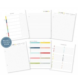 Simple Stories 36x Basic Planner Inserts Life Documented