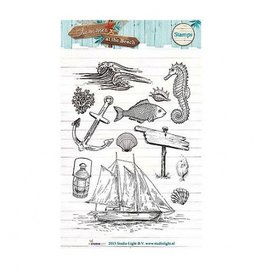 Studiolight Clear Stamps Sets   Summer at the Beach  A6