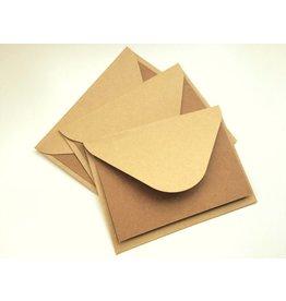 Papermania 3x  Klappkarten + Kraftpapier Umschläge
