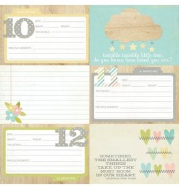 """Simple Stories Hello Baby - 4x6 Horizontal Journaling Cards """"2"""