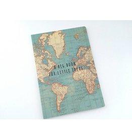 A5 Notizbuch  Vintage Map Around the World