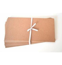 10x Kraftpapier Klappkarten 13,5x13,5cm