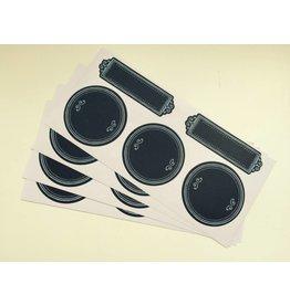 20x Tafelsticker Etiketten  Dotty Frames