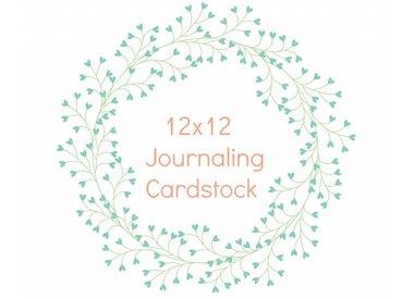 12x12 Journaling  Cardstock