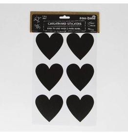 12x große Tafelsticker Herz