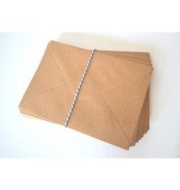 10x Kraftpapierumschläge B6 13,3x18,5cm 120gr/m²