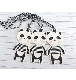 3x Panda Hangtags