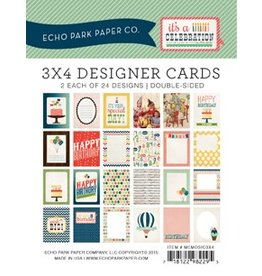 Echo Park it`s a CELEBRATION 3x4 Journal Cards