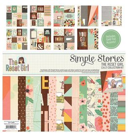 Simple Stories The Reset Girl Collection Kit 12x12 Simple Stories