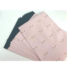 10x Papiertüten Reindeer Soft Pink 17x25cm