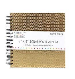 "Kraftpapier Spiralalbum  8x8"" Geometric"
