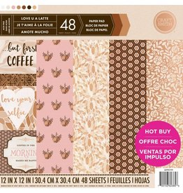 Craft Smith Craft Smith  Love U A Latte Paper Pad 12x12