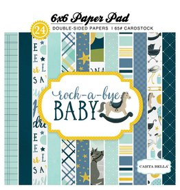 Carta Bella Rock-a-Bye Boy  6x6 Inch Paper Pad