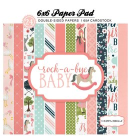 Carta Bella Rock-a-Bye Girl  6x6 Inch Paper Pad